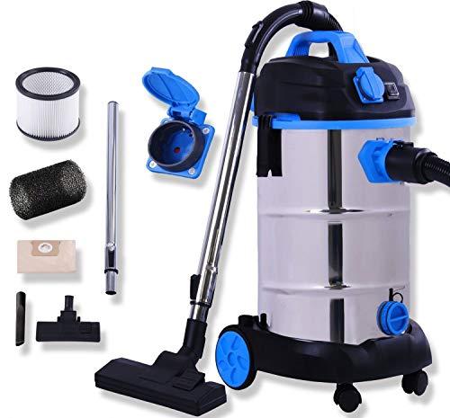 Masko® Industriestaubsauger - blau, 1800Watt ✓ Mit Steckdose ✓...