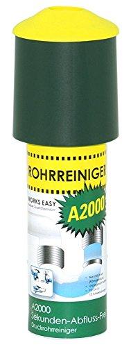 purclean Rohrreiniger A2000 mit 100 ml - Der Abflussreiniger macht...