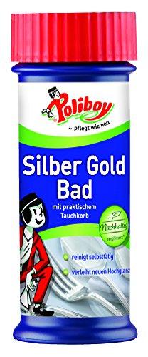 Poliboy - Silber Gold Bad - mit praktischem Tauchkorb - verleiht neuen...