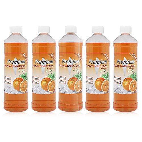 5 x 1 Liter Premium Orangenreiniger Konzentrat Spezialreiniger...