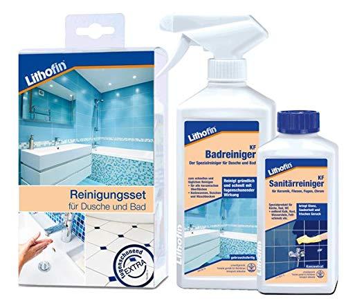 Lithofin KF Reinigungsset für Dusche und Bad - SET aus Lithofin KF...