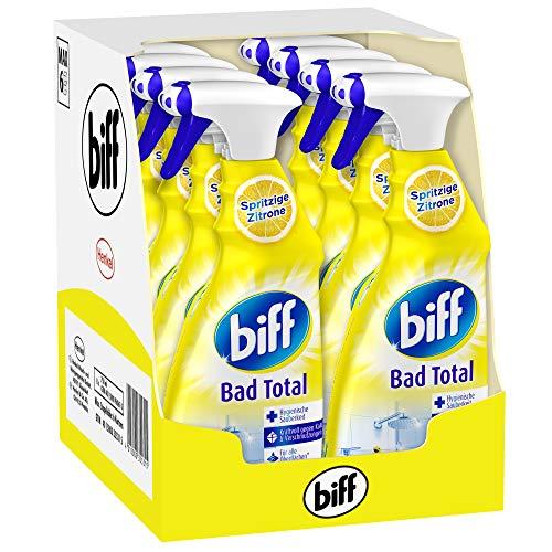 Biff Bad Total Spritzige Zitrone, Badreiniger, 8 x 750 ml,...
