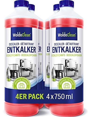 Entkalker für Kaffeeautomat und Kaffeemaschine - 4x 750ml kompatibel...