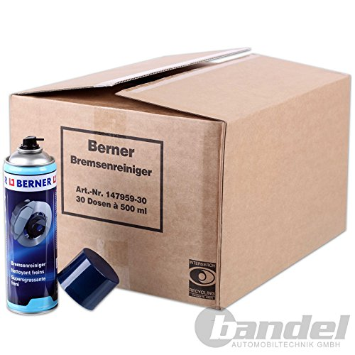 1 Karton Berner Bremsenreiniger 30x Dosen 147959 Entfetter 500ml...