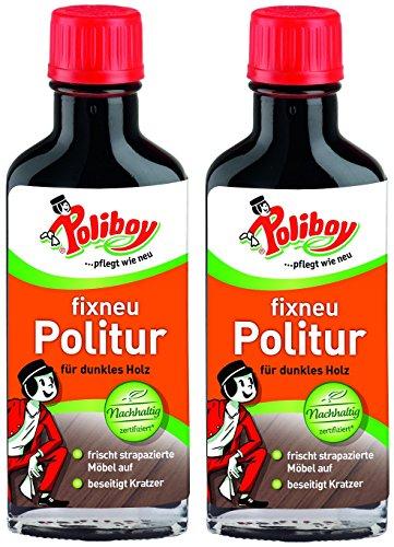 Poliboy - Fixneu Möbelpolitur Dunkel - für dunkle Oberflächen -...