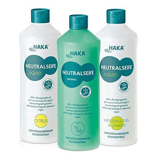 HAKA Neutralseife Flüssig 3er Set I 3x1 Liter Neutralreiniger I...