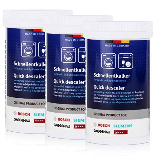 3x BSH Schnellentkalker 250g - für Wasch- und Spülmaschinen,...