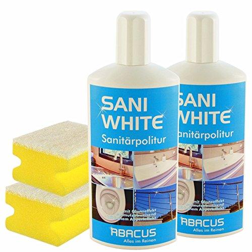 SANI WHITE SET-01 (7013) - 2x 500 ml SANI WHITE Sanitärpolitur + 2x...