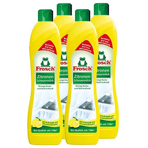 4x Frosch Zitronen Scheuermilch 500 ml - Reinigt Bad und Küche...