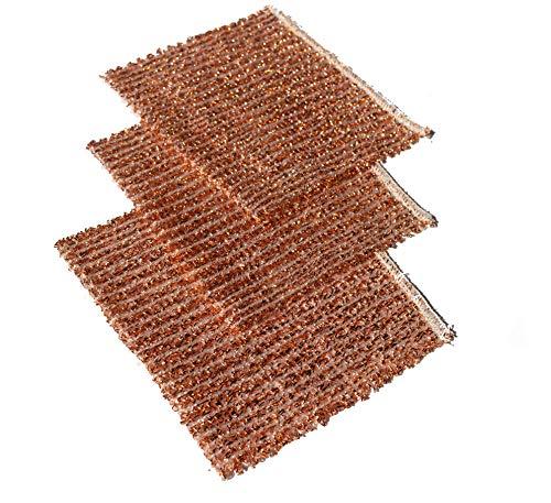Set mit 5 Stück Kupfertücher 14,5 x15 cm Kupferlappen - Kupfertuch...