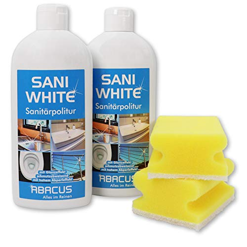 2x 500 ml Sani White Sanitärpolitur/Keramikpolitur/Edelstahlpolitur...