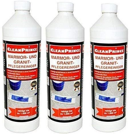 CleanPrince 3x 1L = 3 Liter Marmor- und Granit- Pflegereiniger...