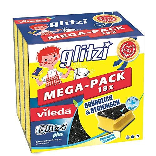 Vileda Glitzi Plus Topfreiniger, mit Antibac-Effekt gegen Bakterien,...