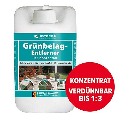 HOTREGA Grünbelag-Entferner 1:3 Konzentrat 5L - Algen, Grünspan und...