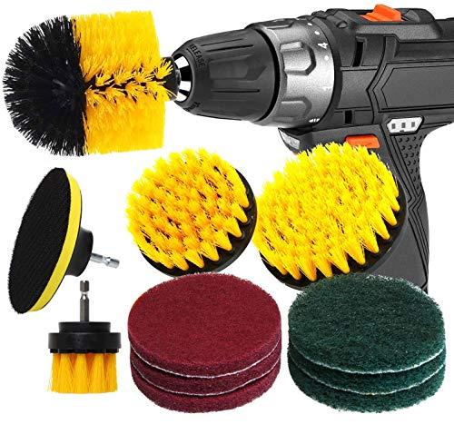 RAIN QUEEN Drill Brush 10Pcs Electric Cleaning Brush Power Scrubbing...