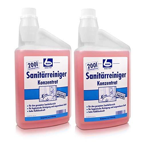 2x Dr. Becher Sanitärreiniger Konzentrat 1 Liter
