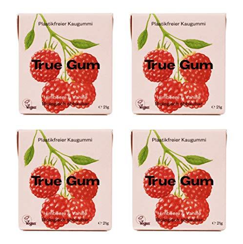 True Gum 4er SET: Himbeere & Vanille | Plastikfreier Kaugummi |...