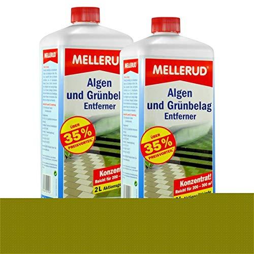 2 x 2 Liter Mellerud 2001001926 Algen- und Grünbelagentferner
