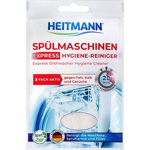 HEITMANN Express Spülmaschinen Reiniger 30g: Reiniger für Geschirr,...
