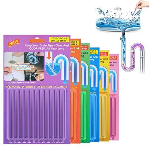 'Drain Cleaner Sticks, 72 Stück Stoppe stinkende & verstopfte...