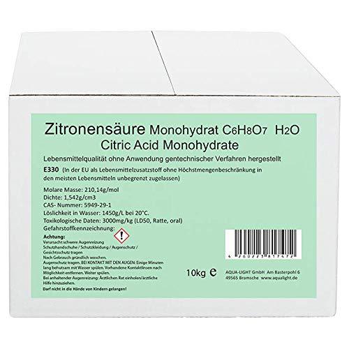 Aqua Light Zitronensäure Monohydrat E330 10kg