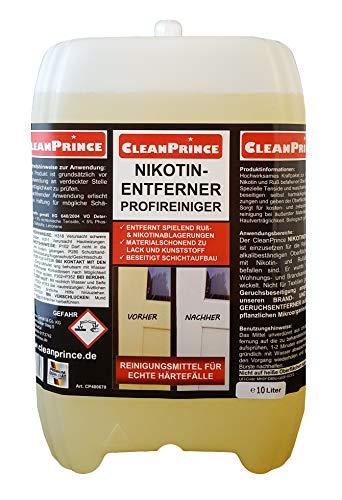 Cleanprince Nikotinentferner 10 Liter Nikotinreiniger Rußentferner...