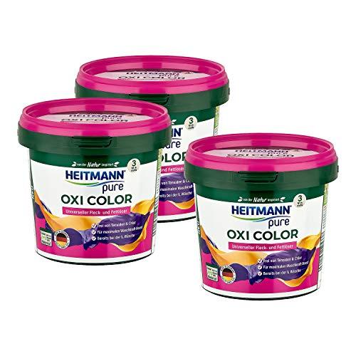 HEITMANN pure Oxi Color: Extra starker Fleckenlöser für Buntwäsche...