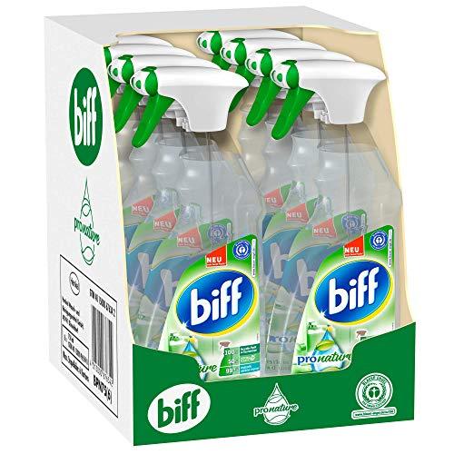 Biff Pro Nature Badreiniger, Sprühflasche, 8 x 750 ml, mit 99,9...
