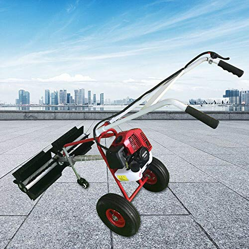 OUKANING Kehrmaschine-Benzin 43cc 1.73PS 1.7PS Motorbesen Benzin...