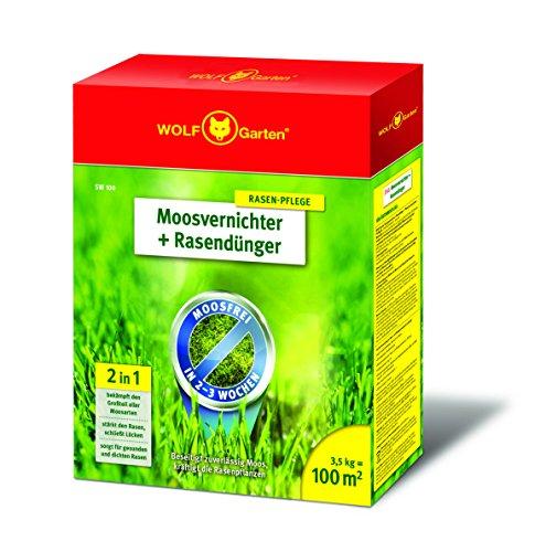 WOLF-Garten - Moosvernichter und Rasendünger - SW 100 - 3,5 kg für...