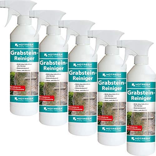 HOTREGA 5 x Grabstein-Reiniger 500ml Sprühflasche