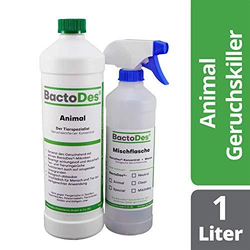 BactoDes Animal Tier Geruchsentferner - 1 Liter inkl. Mischflasche -...