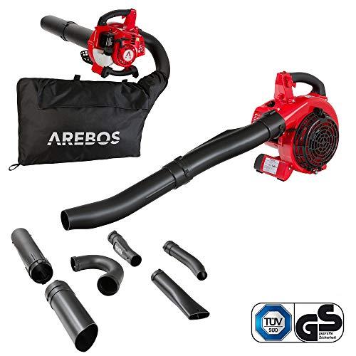 Arebos Benzin Laubsauger | 700 W | inkl. 45 L Auffangsack | mit Saug-...