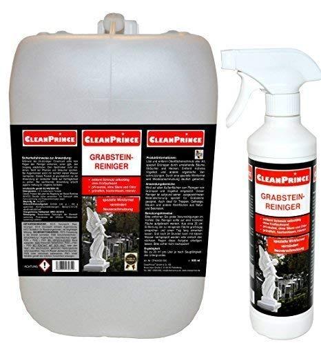CleanPrince Grabsteinreiniger 2,5 Liter | Grabstein-Reiniger Anti Moos...