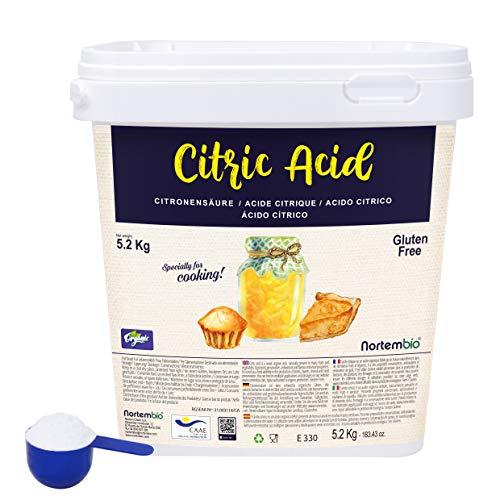 Nortembio Zitronensäure 5,2 Kg. 100% Reines Pulver in...