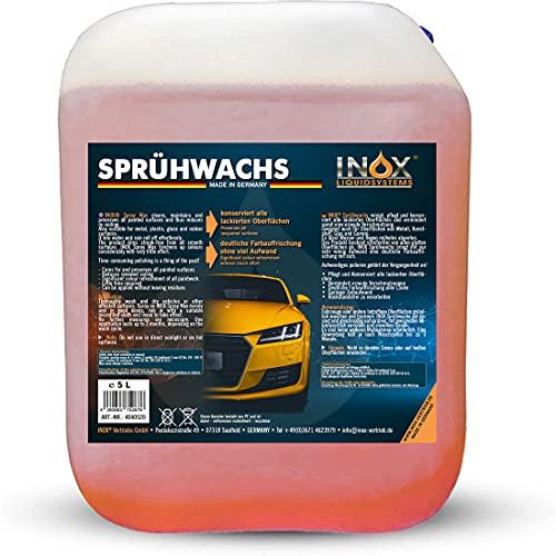 INOX® Sprühwachs – Premium Spray Wax 5L mit Abperleffekt -...