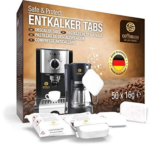 Coffeeano 50x Entkalkungstabletten XL für Kaffeevollautomaten und...