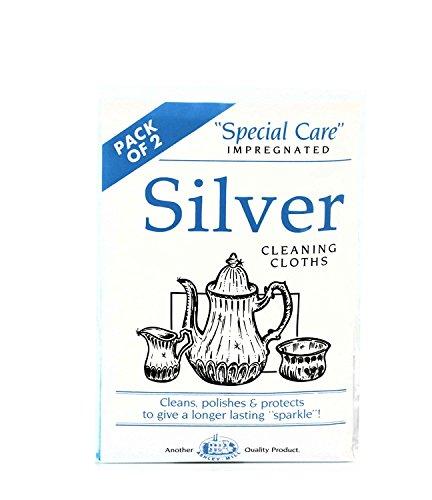 2 x Silberputztücher Silberputzmittel Reinigungstuch Politur Silber...
