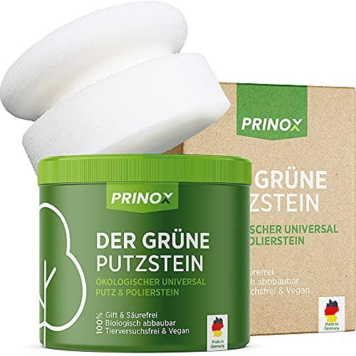 PRINOX® Der Grüne Putzstein I 950g inkl. Handschwamm I Nachhaltiger...