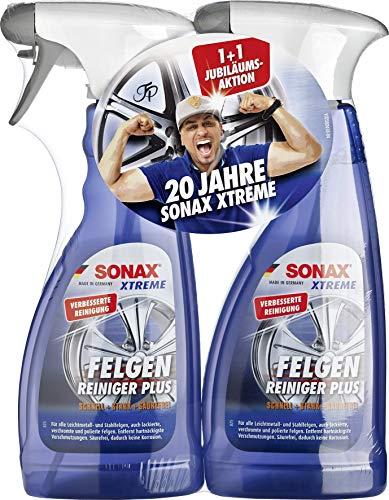 SONAX 2x XTREME Felgenreiniger PLUS (500 ml) effiziente & säurefreie...