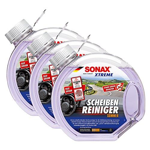 SONAX 3X 02724000 Xtreme ScheibenReiniger Sommer gebrauchsfertig 3L
