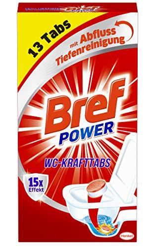 Bref Power WC Kraft Tabs, Abfluss Tiefenreinigung gegen Ablagerungen,...