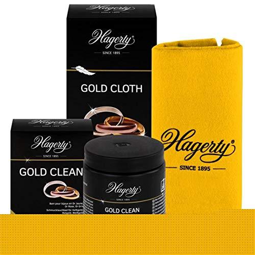 Hagerty Gold Clean & Cloth - Schmucktauchbad 170ml & Pflegetuch