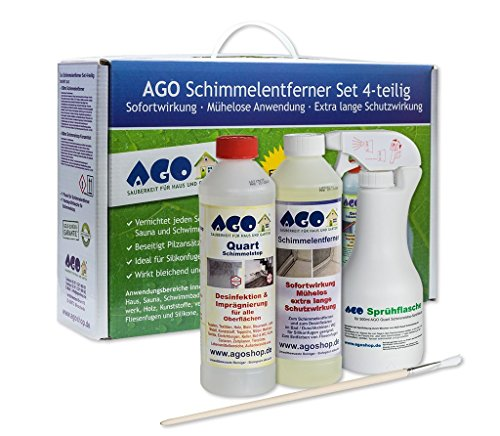 AGO® Anti Schimmel Imprägnierung Set 4-TLG I Je 1x Schimmelentferner...