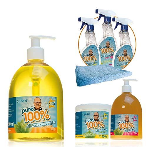 Pure100% Spezial Mega Package inkl. Fettreiniger Kalklöser...