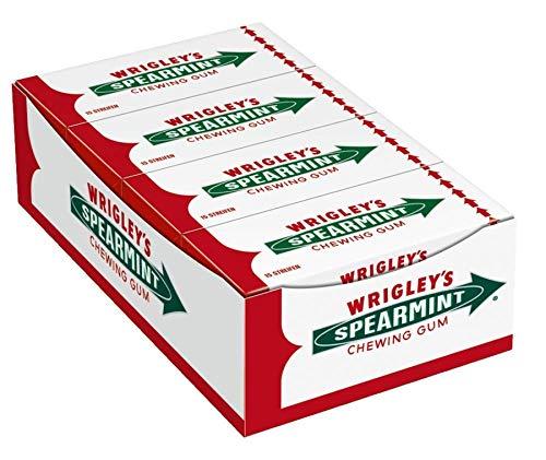 Wrigley's Spearmint Kaugummi   Minz-Geschmack   8 Packungen (8 x 15...
