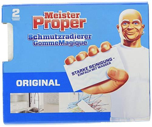 Meister Proper Schmutzradierer (2er Pack) Original, Radierschwamm für...