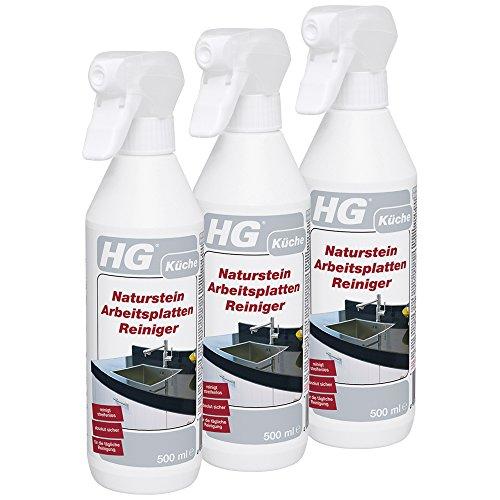 HG Naturstein-Arbeitsplatten-Reiniger, 3er pack (3x 500 ml) – ist...