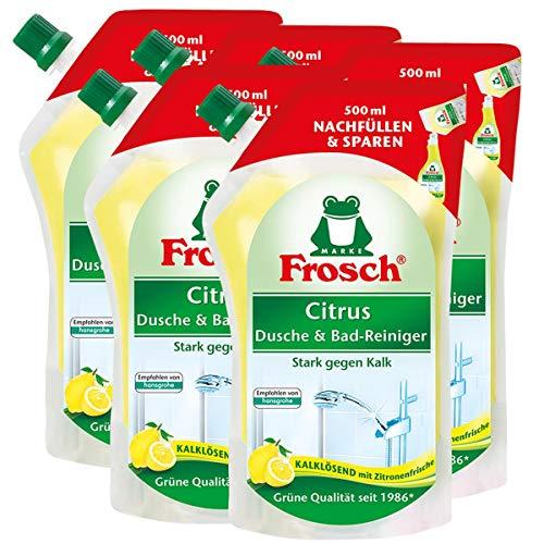 5x Frosch Citrus Dusche & Bad Reiniger 500 ml Nachfüllbeutel