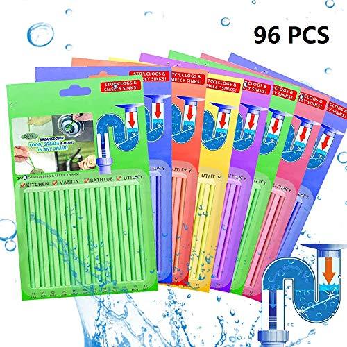 Sopplea 96 Stück Drain Cleaning Sticks Rohrreinigungsstab,Abfluss...